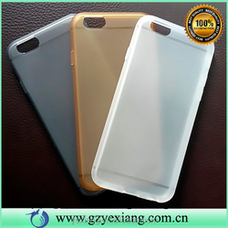 ultra slim Matte TPU Mobile Phone Case for iPhone 6, for iphone 6 matte TPU case