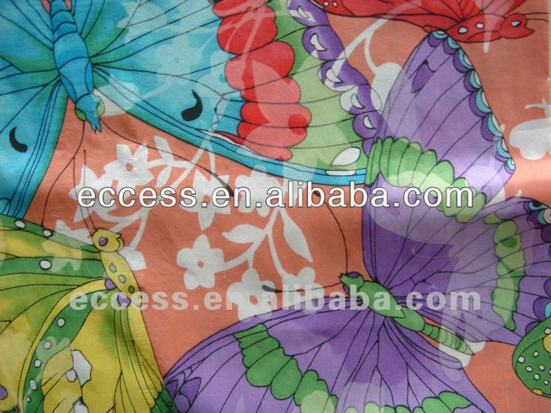100%silk printed fabric for curtain home textile decorative fabric