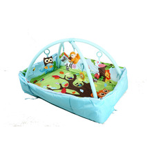 Custom design educational toy plush toy padding baby care play mat gym