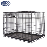 2016 6 Sizes Metal Folding Dog Crate, Metal Folding Dog Cage,stainless steel dog cage