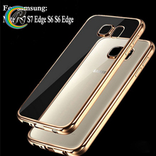 New arrival case back cover for samsung c5 S7 edge silicone phone case plating bumper