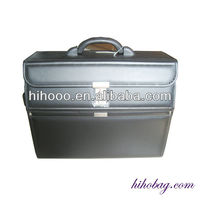 PU Leather Wheeled Trolley Pilot Case
