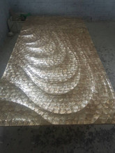 seashells decorative 3d panels for hotel wall decoration
