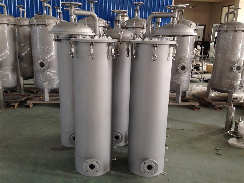Plastic water treatment/water filter welding sand cartridge filter made in China