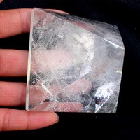 65mm natural rock clear crystal egypt stone pyramid