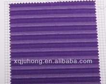 Stock Viscose/Polyester Suit fabric for men's shirt purple and white stripe
