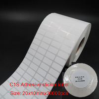 20x10mm blank price label, packing label, size sticker label