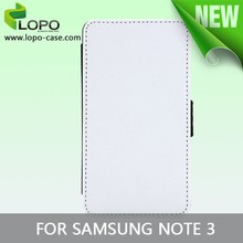 Printable DIY sublimation flip leather case for Samsung Note 3