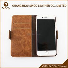 universal smart phone wallet style genuine leather phone case for iphone6/6s