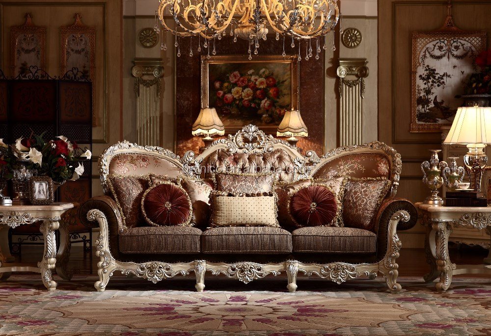 palace classic hand carved wooden upholstery living room
