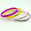 silicone wristband 5mm wide thin bracelets cheap custom logo gifts