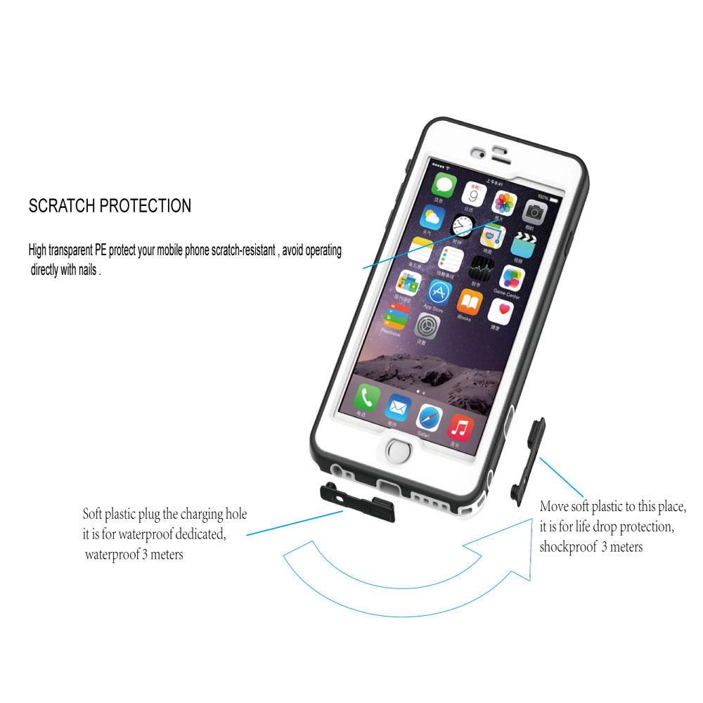 2016 Multi-application new design water proof shockproof phone case for iphone 5 6 6s 7 7 plus