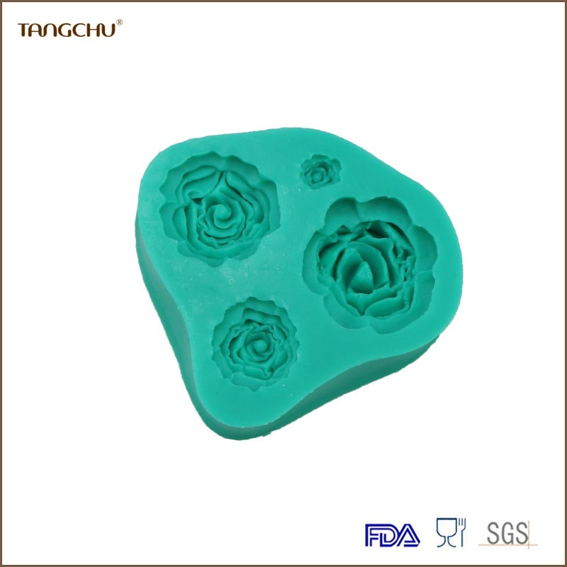 Rose shape Silicone Cake Decoration Mold