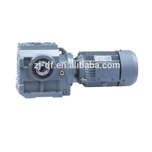 DOFINE S series helical- worm speed transmission gear box electric drive motor reducer