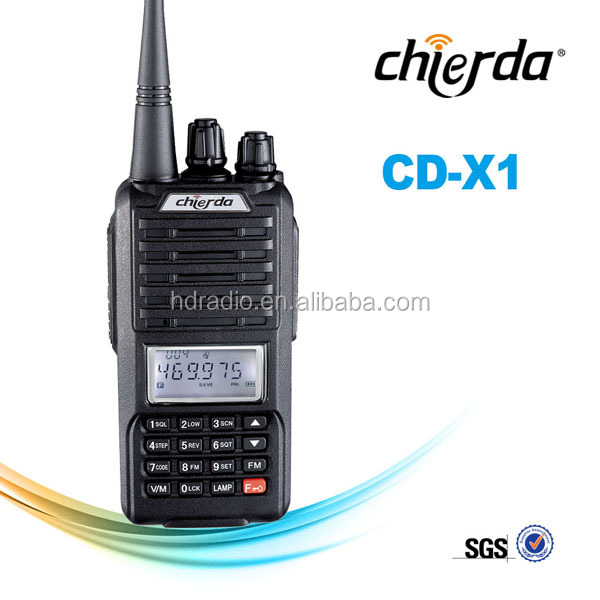 Handheld Two-way Radio, Easily Operated, FM Crystal Radio CD-X1