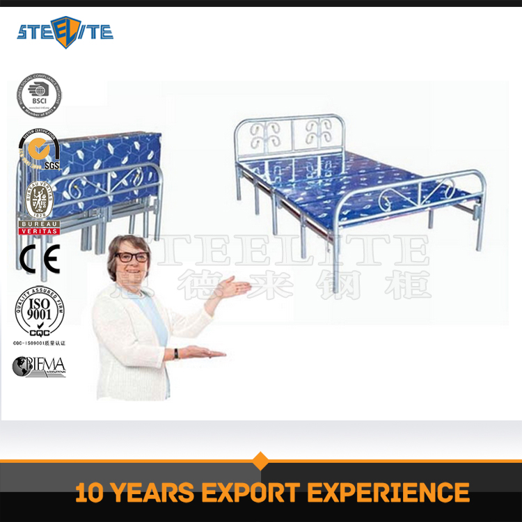 Outdoor beach travel single steel bed designs inflatable beach folding bed
