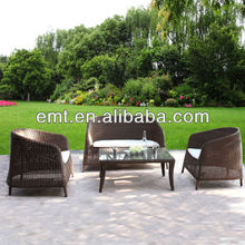 2014 Luxury rattan furniture outdoor in green back groundEMT-1605)