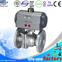 316 stainless steel pneumatic flanged ball valve