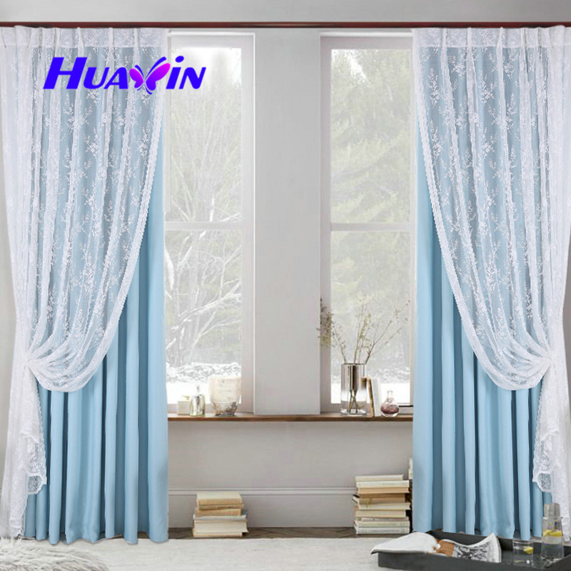 latest curtain fashion designs, warp knit curtain fabric with lace