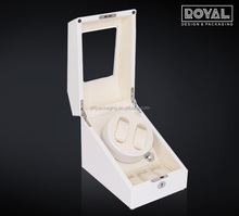 Wholesale 2+3 Luxury Automatic Watch Winder in White with Dual Double Battery & A/C Adaptor