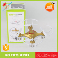 Mini 29mm 4CH 2.4GHz 6-Axis Gyro LED RC Quadcopter Bright Gold