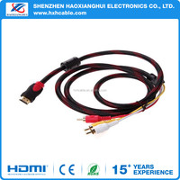 Good quality hdmi male to rca video and audio AV Cable