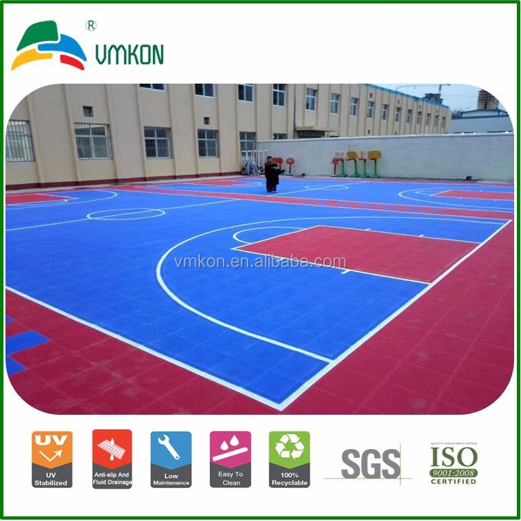 vmkon plastic outdoor used basketball sport court floor anti slip tile in winter vsa-303010