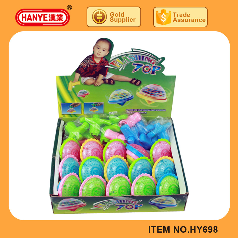 HY698 New Child Toy Flashing Tops Spinning 15PCS Pack