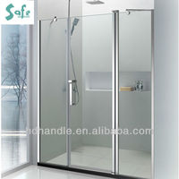 Polished glass bath shower screen with frosted glass for bathroom