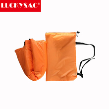 LUCKYSAC Supply Orange Double Mouth Multipurpose Inflatable Lazy Air Sofa Living Room Sofa