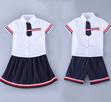 Wholesales new style kids summer primary school uniform designs