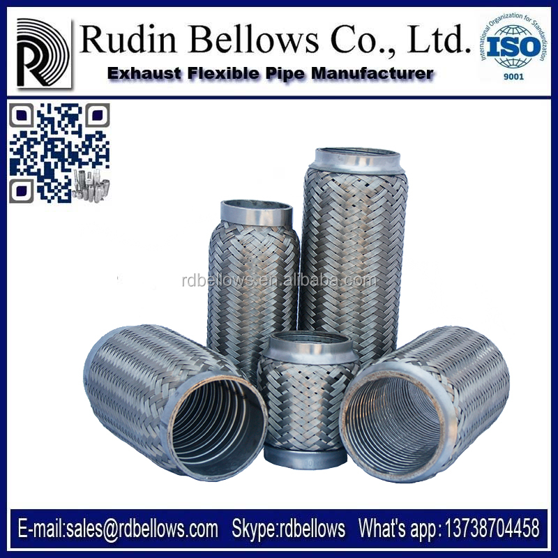 Ruian Rudin motorcycle exhaust pipe with interlock inside exhausted pipe exhaust catback