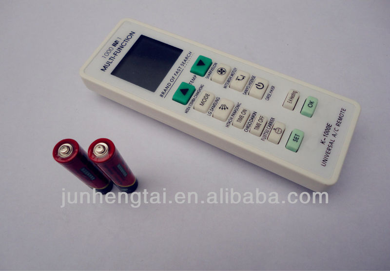 1000 in 1 Codes of universal remote for air conditioners