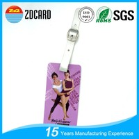 Personalized hard plastic pvc luggage tag wholesale