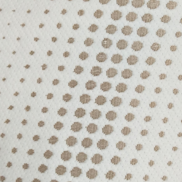 2017 100% Polyester chocolate dots on line home textile knitted fabric Mattress Air Layer Fabric