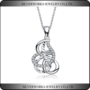 Wholesale Fashion Jewelry Silver 925 Elegent Necklace Pendants
