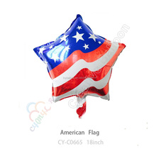 Self inflating helium party star balloons foil mylar America USA flag balloons