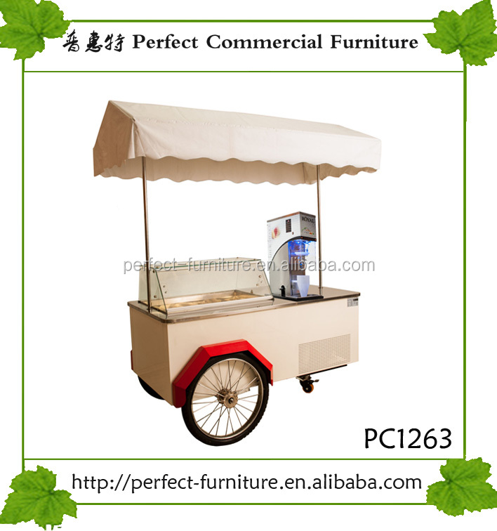 mobile gelato cart hot dog cart food crepe display case kiosk ice cream zone tricycle