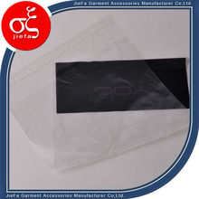 Printing environmental protection logo HDPE bag with self adhesive strip for mobile hard disk