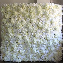 Fashion wedding hydrangea rose peony artificial 3D flowers wall decoration for party stage backdrop decorative flores wholesale