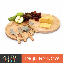 Wooden cheese board set 4pcs cheese tools set