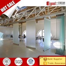 Movable foldable frameless glass stacking doors interior sliding door