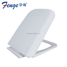 India sandwich style solid plastic rectangle toilet seat cover with slow down function