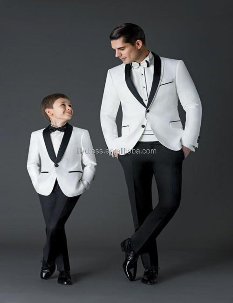 White <strong>Kids</strong> For Wedding (Coat+Pants+Tie) 4 Pieces BF802 Custom Made Smoking Casamento Evening Tuxedo Suit Boy clothing
