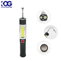 High Power Pocket Handheld LED Telescopic Magnet Flashlight Flexible Magnetic COB LED Work Light