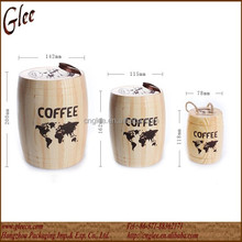 Wood Coffee Barrels wholesale/Coffee Beans Wooden Packaging Barrels