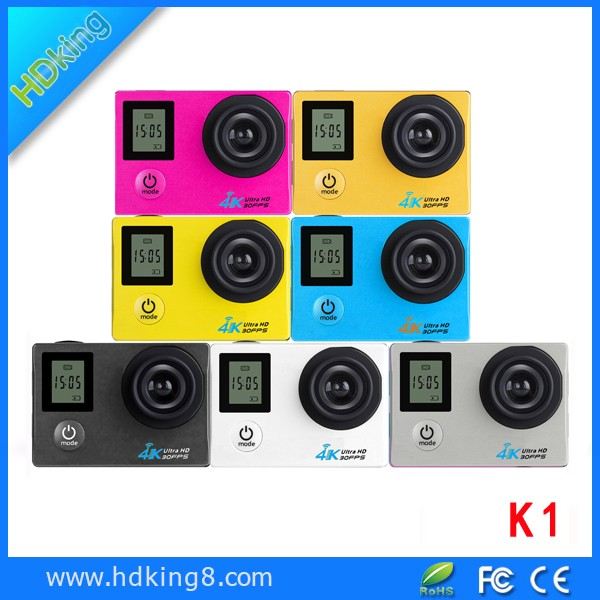 Original manufacture best supplier double screen K1 4k 30fps action camera