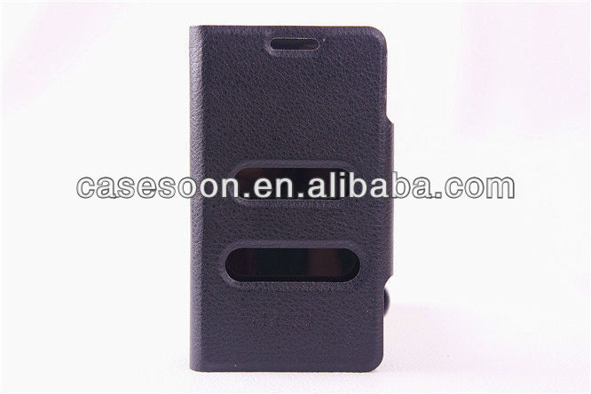 Phone case Wallet Leather case for Samsung Galaxy S2 i9100 with caller ID display function With Stand