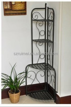Folding Iron Metal Corner Antique Metal Plant Stand