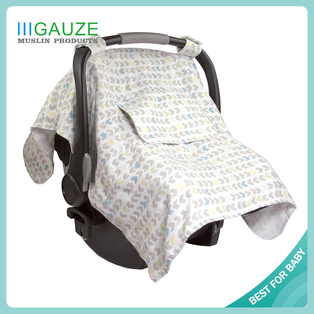 A253 South American Popular Breezy Natural Plain Bamboo And Cotton Infant Graco Car Seat Covers